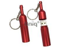 Флешка Uniq USB 2.0 БУТЫЛКА Вина красная [металл] 4GB (04C17231U2)
