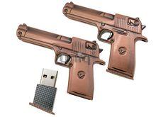 Флешка Uniq USB 2.0 ОРУЖИЕ Пистолет бронза 4GB (04C17238U2)