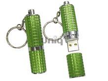 Флешка Uniq USB 2.0 ПОМАДА Рельефная зеленый [металл] 4GB (04C17239U2)