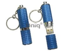 Флешка Uniq USB 2.0 ПОМАДА Рельефная синий [металл] 4GB (04C17240U2)