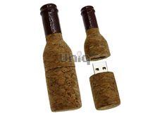 Флешка Uniq USB 2.0 БУТЫЛКА Из Пробки вишневое горлышко [дерево] 4GB (04C17245U2)