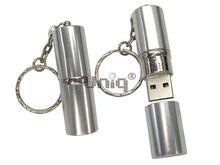 Флешка Uniq USB 2.0 ПОМАДА серебро [металл] 4GB (04C17248U2)