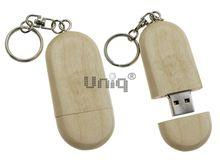 Флешка Uniq USB 2.0 НАТУР ДЕРЕВО Овал осина 4GB (04C17256U2)