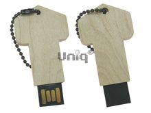 Флешка Uniq USB 2.0 НАТУР ДЕРЕВО Ключ маленький брелок 4GB (04C17262U2)