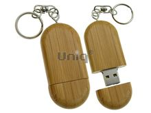 Флешка Uniq USB 2.0 НАТУР ДЕРЕВО Овал орех 4GB (04C17266U2)