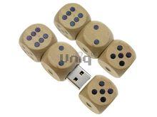 Флешка Uniq USB 2.0 НАТУР ДЕРЕВО Игральные Кости Трио магнит 4GB (04C17267U2)