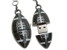 Флешка Uniq USB 2.0 МЯЧ Для Регби, серебро металл разборной 4GB (04C17283U2)