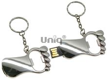 Флешка Uniq USB 2.0 ОТКРЫВАШКА Ступня серебро 4GB (04C17284U2)
