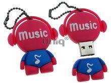 Флешка Uniq USB 2.0 DJ MUSIC TAB розовый Резина 4GB (04C17309U2)