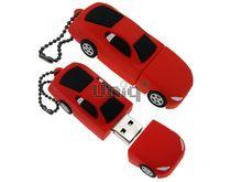 Флешка Uniq USB 2.0 AUTO Автомобиль красно / черный Резина 4GB (04C17313U2)
