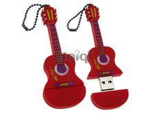 Флешка Uniq USB 2.0 ГИТАРА Акустическая красный / фиолетовый 4GB (04C17316U2)
