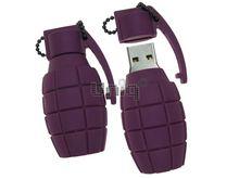 Флешка Uniq USB 2.0 ОРУЖИЕ ГРАНАТА фиолетовая Резина 4GB (04C17318U2)