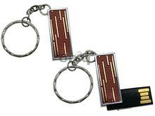 Флешка Uniq USB 2.0 ПИЖОН Золотой Дождик красный / серебро 4GB (04C17324U2)