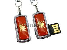 Флешка Uniq USB 2.0 ZODIAK MINI Лев оранжевый (Leo) [металл, пластик] 4GB (04C17331U2)