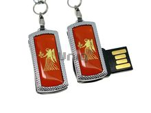 Флешка Uniq USB 2.0 ZODIAK MINI Дева оранжевый (Virgo) [металл, пластик] 4GB (04C17334U2)