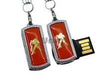 Флешка Uniq USB 2.0 ZODIAK MINI Водолей оранжевый (Aquarius) [металл, пластик] 4GB (04C17340U2)