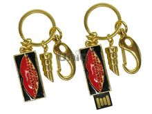 Флешка Uniq USB 2.0 ШАМАХАНСКАЯ ЦАРИЦА Поцелуй золото [металл, черная эмаль, камни] 4GB (04C17356U2)