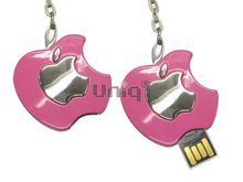 Флешка Uniq USB 2.0 ПЛОДЫ ФРУКТЫ Apple Logol серебро / розовый [металл] 4GB (04C17367U2)