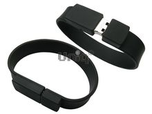 Флешка Uniq USB 2.0 БРАСЛЕТ Силиконовый черный 4GB (04C17409U2)