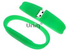 Флешка Uniq USB 2.0 БРАСЛЕТ Силиконовый фигурный салатовый 4GB (04C17410U2)