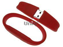 Флешка Uniq USB 2.0 БРАСЛЕТ Силиконовый фигурный красный 4GB (04C17411U2)