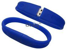 Флешка Uniq USB 2.0 БРАСЛЕТ Силиконовый фигурный синий 4GB (04C17413U2)