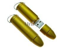 Флешка Uniq USB 2.0 ПУЛЯ Револьверная золото матовая [металл] 4GB (04C17419U2)