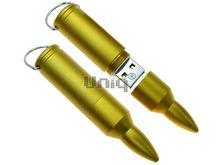 Флешка Uniq USB 2.0 ПУЛЯ Винтовочная золото матовая [металл] 4GB (04C17420U2)