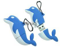 Флешка Uniq USB 2.0 ДЕЛЬФИН голубой 4GB (04C17423U2)