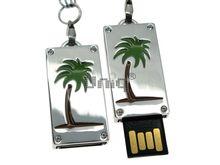 Флешка Uniq USB 2.0 ПАННО Сталь Пальма 4GB (04C17437U2)
