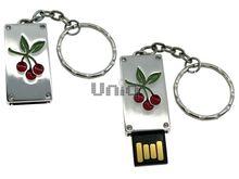 Флешка Uniq USB 2.0 ПАННО Сталь Вишенки Красные 4GB (04C17438U2)