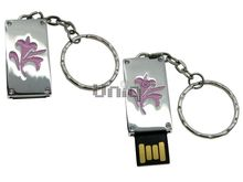 Флешка Uniq USB 2.0 ПАННО Сталь Лилия Розовая 4GB (04C17439U2)