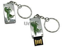 Флешка Uniq USB 2.0 ПАННО Сталь Лошадь эмаль/салатов 4GB (04C17449U2)