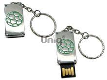 Флешка Uniq USB 2.0 ПАННО Сталь Мяч зеленый 4GB (04C17450U2)