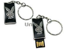 Флешка Uniq USB 2.0 ПАННО ЗАЯЦ Play Boy Черный 4GB (04C17451U2)