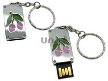 Флешка Uniq USB 2.0 ПАННО Сталь Вишенки Розовые 4GB (04C17452U2)