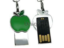 Флешка Uniq USB 2.0 SLIM Яблоко Зеленое 4GB (04C17455U2)