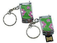 Флешка Uniq USB 2.0 МОБИЛЬНЫЙ Телефон-раскладушка ромашки/эмаль 4GB (04C17470U2)