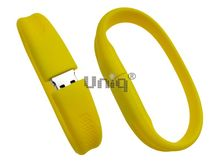 Флешка Uniq USB 2.0 БРАСЛЕТ Силиконовый фигурный желтый 4GB (04C17506U2)