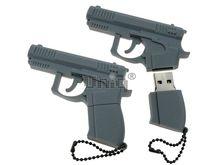 Флешка Uniq USB 2.0 ОРУЖИЕ Пистолет серый 4GB (04C17515U2)
