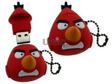 Флешка Uniq USB 2.0 ANGRY BIRDS Чак, красный Резина 4GB (04C17522U2)