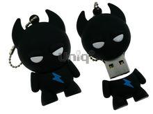 Флешка Uniq USB 2.0 ЧЕРТИК черный Резина 4GB (04C17560U2)