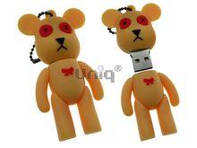 Флешка Uniq USB 2.0 Bearbrick с красным бантиком Резина 4GB (04C17564U2)