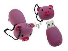 Флешка Uniq USB 2.0 ХРЮША розовая 4GB (04C17586U2)