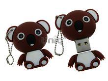 Флешка Uniq USB 2.0 КОАЛА девочка коричневый Резина 4GB (04C17601U2)