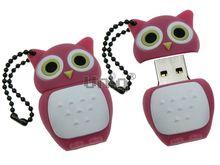 Флешка Uniq USB 2.0 СОВА розовый Резина 4GB (04C17603U2)