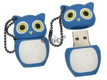 Флешка Uniq USB 2.0 СОВА синий Резина 4GB (04C17604U2)