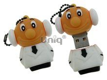Флешка Uniq USB 2.0 ПИЛОТ, белый Резина 4GB (04C17607U2)