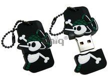 Флешка Uniq USB 2.0 ПИРАТ- КОК ( зеленый колпак) Резина 4GB (04C17622U2)