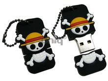 Флешка Uniq USB 2.0 ПИРАТ- БОЦМАН (оранжевая шляпа) Резина 4GB (04C17623U2)